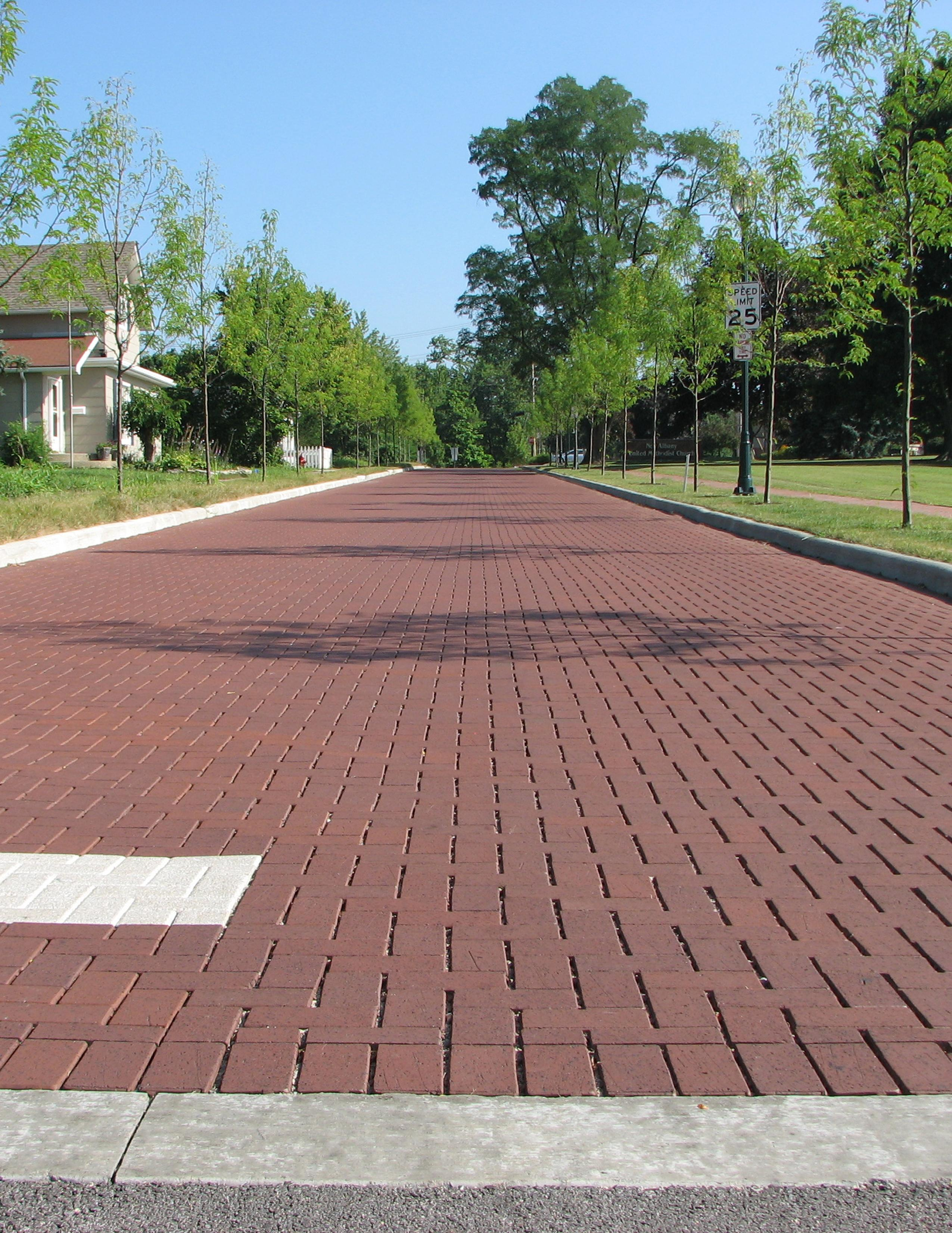 Clay Brick Pavers Permeable Clay Pavers Cost Less Than Asphalt  Pine Hall Brick Inc.