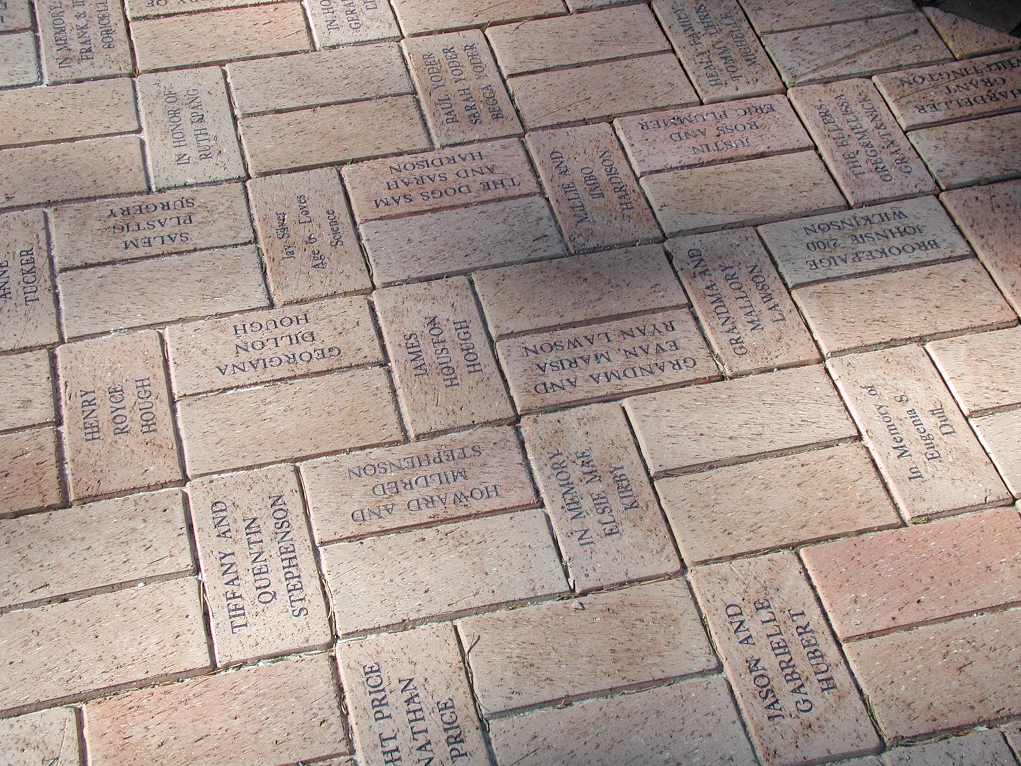 Pine Hall Brick Inc Engraved Brick