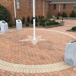 memorial garden and veteran memorial