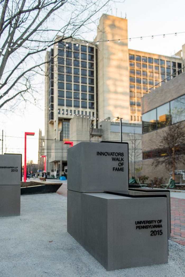 Commemorating innovation on Innovation Plaza