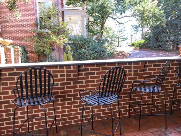 brick bar on patio