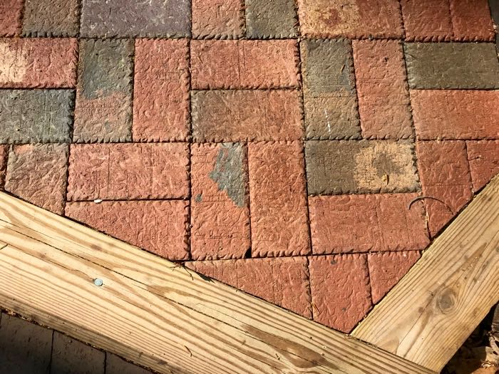 Clay paver geometric forms