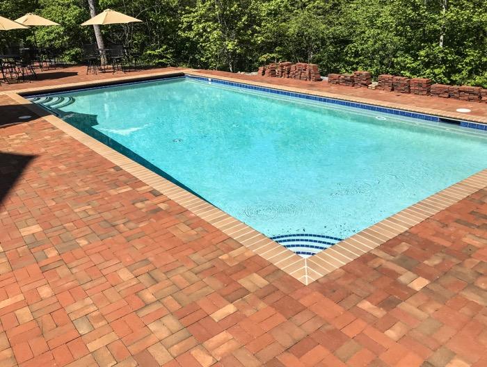 paver patio swimming pool